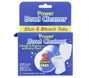POWER BOWL CLEANER BLUE AND BLEACH 2 TABS