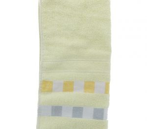 SQUARE EMBELLISHED HAND TOWEL 13 X 28 INCH