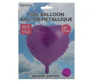 FUCHSIA HEART MYLAR BALLOON 20 INCH