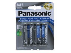 Panasonic Super Heavy Duty AA Battery 4 Count