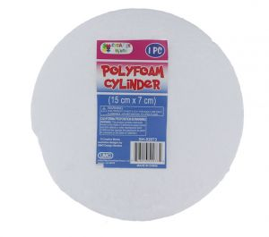 CYLINDER POLYFOAM 15CM X 7CM
