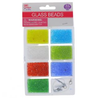COLORFUL GLASS BEADS WITH CORD