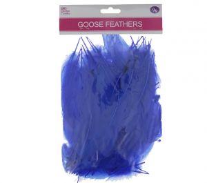 DARK BLUE GOOSE FEATHERS 5-7IN