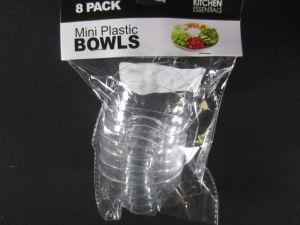 Mini Plastic Bowls 8 Pack