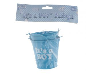 ITS A BOY BUCKET 7CM X 7CM BLUE 2 COUNT