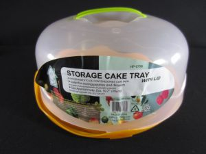 STORAGE CAKE TRAY diameter 10.2&quot Height 4.5&quot