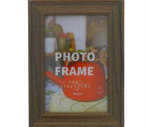 PHOTO FRAME 4 X 6 INCH BROWM