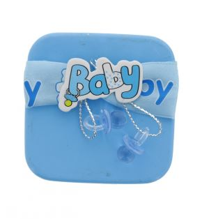 BABY TIN CAN FAVOR BOX BLUE
