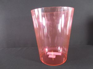 PLASTIC BUCKET PINK 6IN XXX