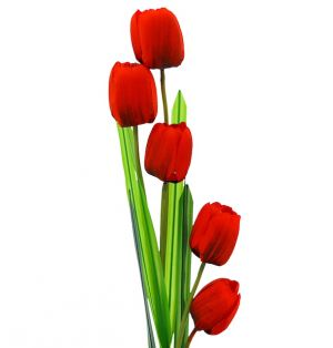 RED ARTIFICAL LONG FLOWER 39.5