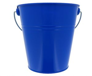 ROYAL BLUE TIN METAL BUCKET