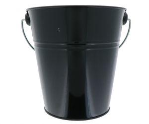 BLACK TIN METAL BUCKET