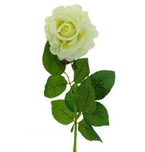 SINGLE ROSE WHITE 19.5 INCH