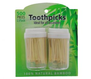 TOOTHPICKS NATURAL BAMBOO 500 PACK