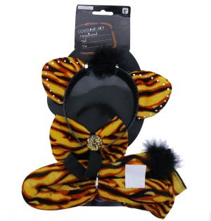 COSTUME SET HEADBAND TAIL AND TIE