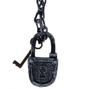 LOCK WITH CHAIN AND KEY