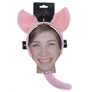 COSTUME ANIMAL SET HEADBAND AND TAIL
