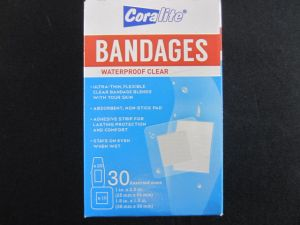 BANDAGES WATER PROOF CLEAR