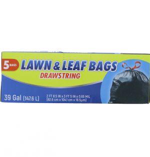 LAWN AND LEAF BAG DRAWSTRING 39 GL 5 BAGS