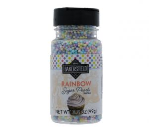 RAINBOW SUGAR PEARLS 3.5OZ