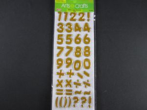 GLITTER NUMBER STICKERS-GOLD