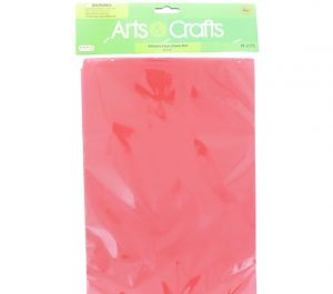 ADHESIVE FOAM SHEETS RED 8 INCH X 12 INCH