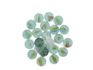 LARGTE FLOWER MARBLES 20 COUNT