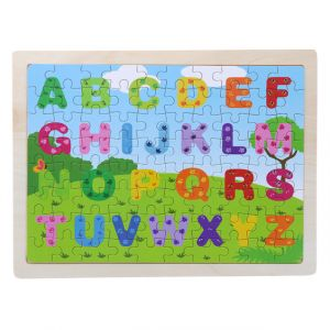 Wooden Alphabet Puzzle Set for Kids 80 pieces Puzzle For Kids Learning Toys Educational Toys - Size 12 x 9 in