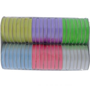 PASTEL COLOR RIBBONS ASSORTED COLORS 38 INCH X 5 YARDS