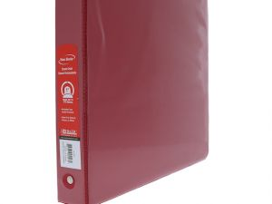 RED 3 RING BINDER 1 IN