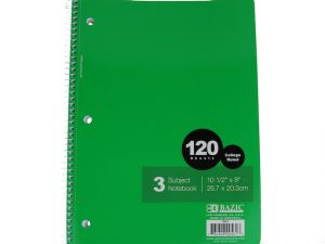 NOTEBOOK COLLEGE RULED 120CT