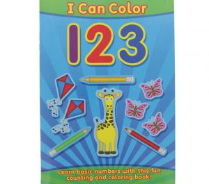 CHILDRENS ACTIVITY BOOK - I can color 123