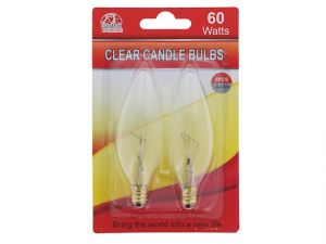 CLEAR CANDLE LIGHT BULBS 60 WATTS