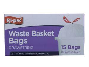 WASTE BASKET BAGS 15 PC  8GL