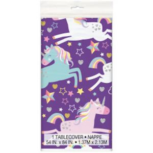UNICORN PLASTIC TABLE COVER