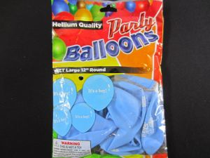 BALLOONS ITS A BOY 12IN 10CT