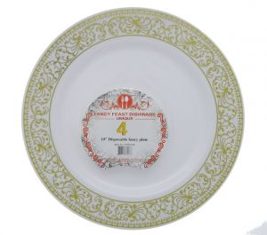 DISPOSABLE FANCY PLATE 10 INCH 4 PACK