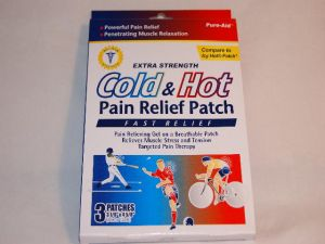 Pure Aid Extra Strength Cold and Hot Pain Relieving Patch 3 Count