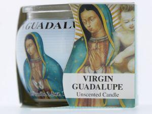 JAR CANDLE VIRGIN MARY