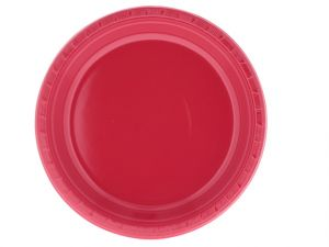 RED 9 IN PLASTIC PLATE