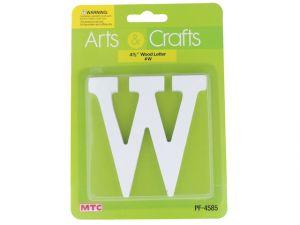 -#W 11CM WHITE WOOD LETTER - W