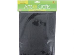 3PC 8X12 ADHESIVE GLITTERED EVA SHEETS-BLACK