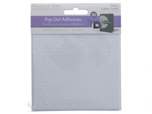 WHITE POP DOTS 0.25 IN ROUND