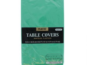 Plastic Table Cover in Green Color Party Table Cloths Disposable Rectangle Tablecloth - Size 56 x 108 Inches