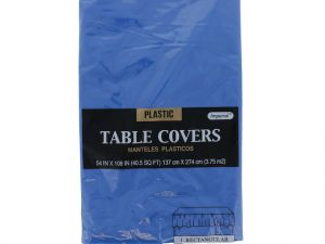 Plastic Table Cover in Royal Blue Color Party Table Cloths Disposable Rectangle Tablecloth - Size 56 x 108 Inches