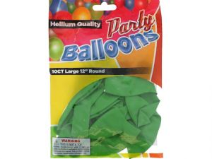 Lime Green 12 In Large Latex Party Balloons 5 Count