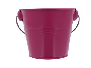 METAL PAIL BUCKET FUCHSIA