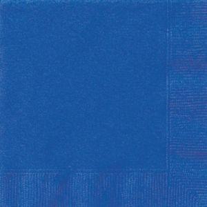 ROYAL BLUE BEVERAGE NAPKINS