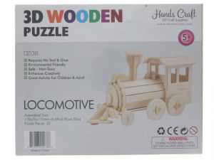 3D WOOD LOCOMOTIVE PUZZLE