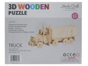 3D WOOD TRUCK PUZZLE